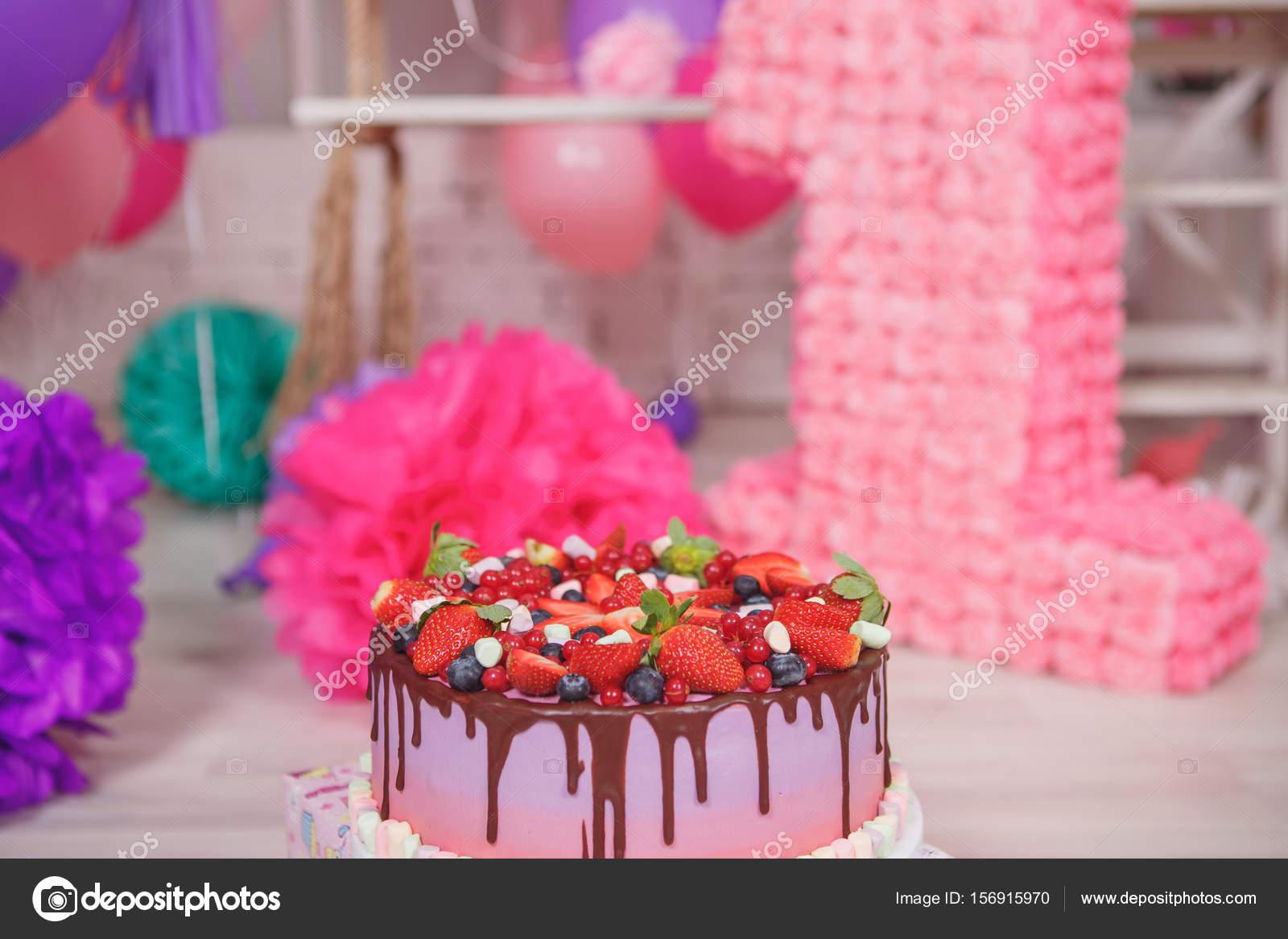 Obst Kuchen Geburtstag Party Dekoration Stockfoto C Cs 333 156915970