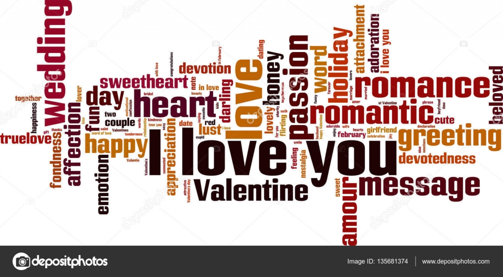 I Love You Word Cloud Stock Vector