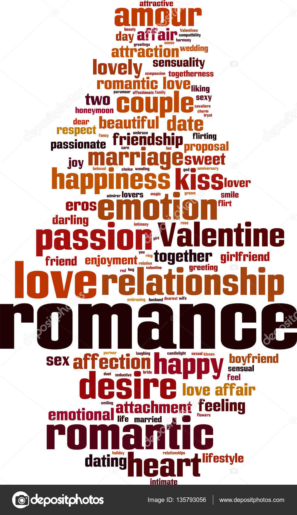 romance word cloud stock vector boris15 135793056
