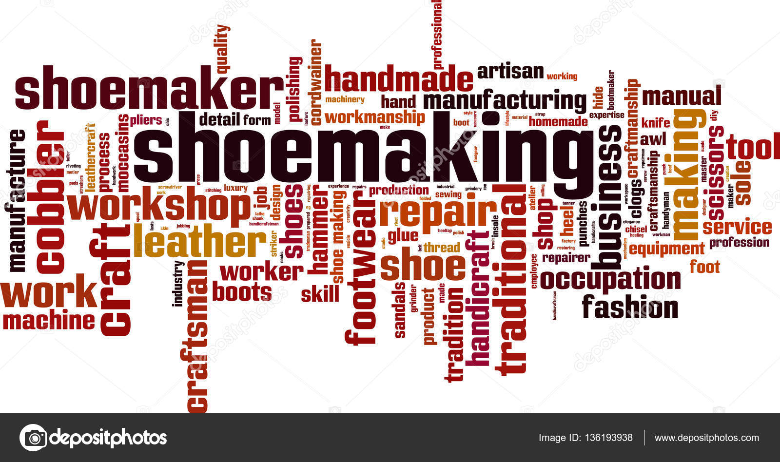 schoen maken word cloud — stockvector © boris15 #136193938