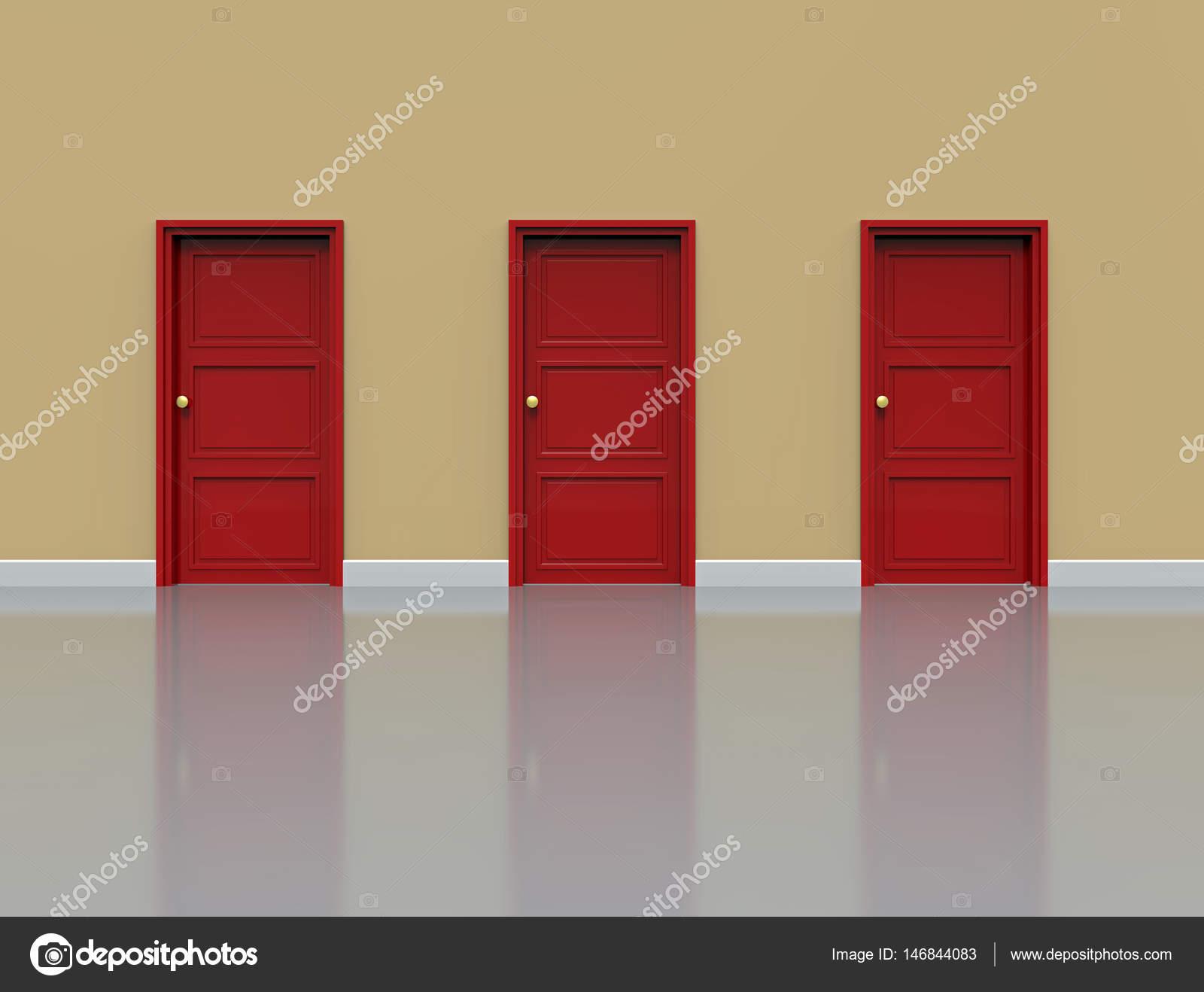 Wand mit Türen — Stockfoto © Boris15 #146844083