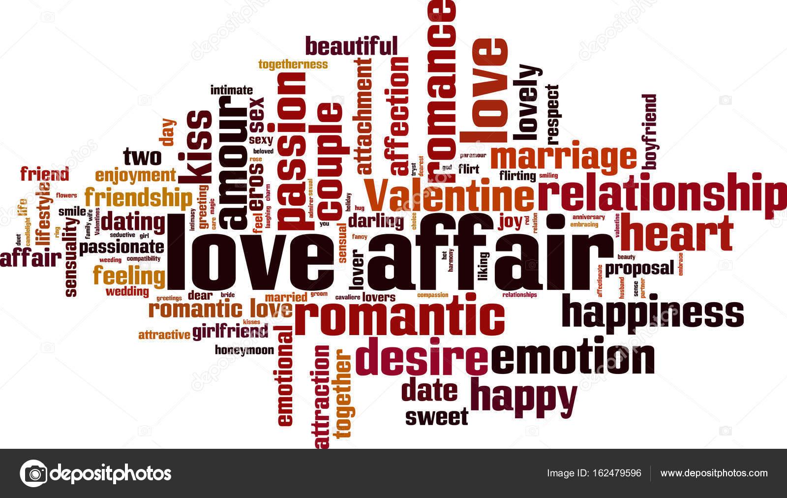 Love Affair Word Cloud Konzept V R Il Ration V R Von Boris