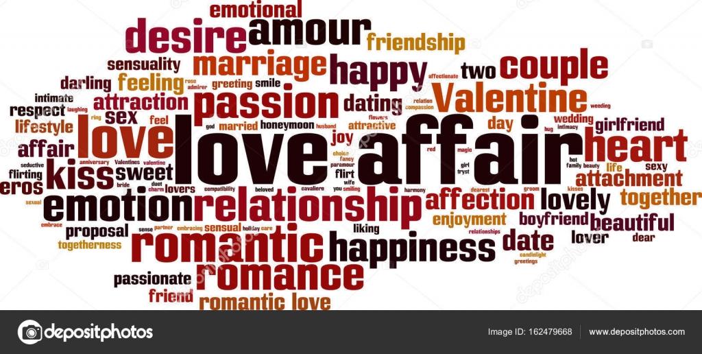 Love Affair Word Cloud Stock Vector