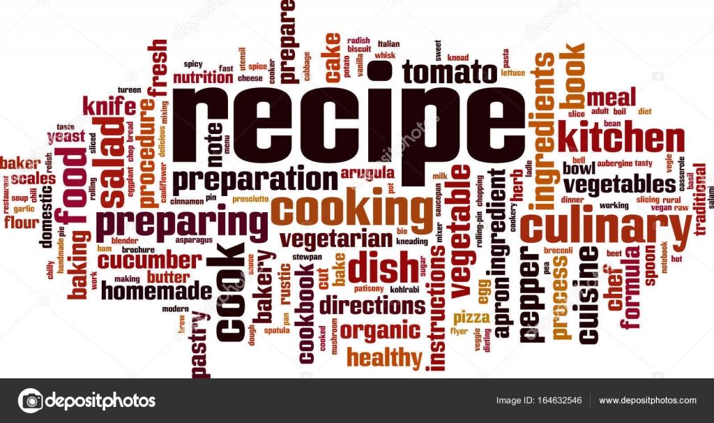 Recipe word cloud — Stock Vector © Boris15 #164632546