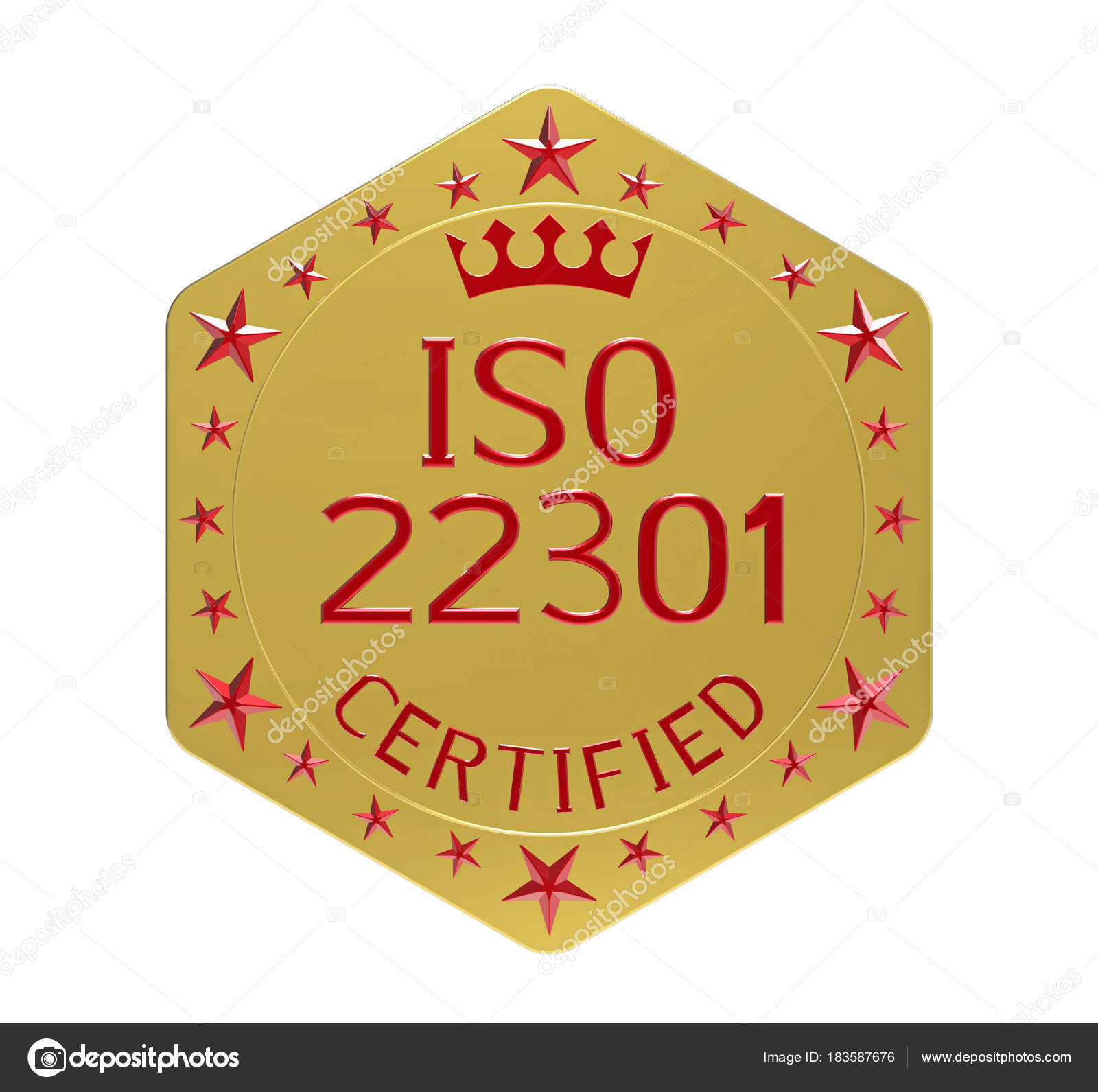 Iso 22301 Standard Stock Photo C Boris15 183587676
