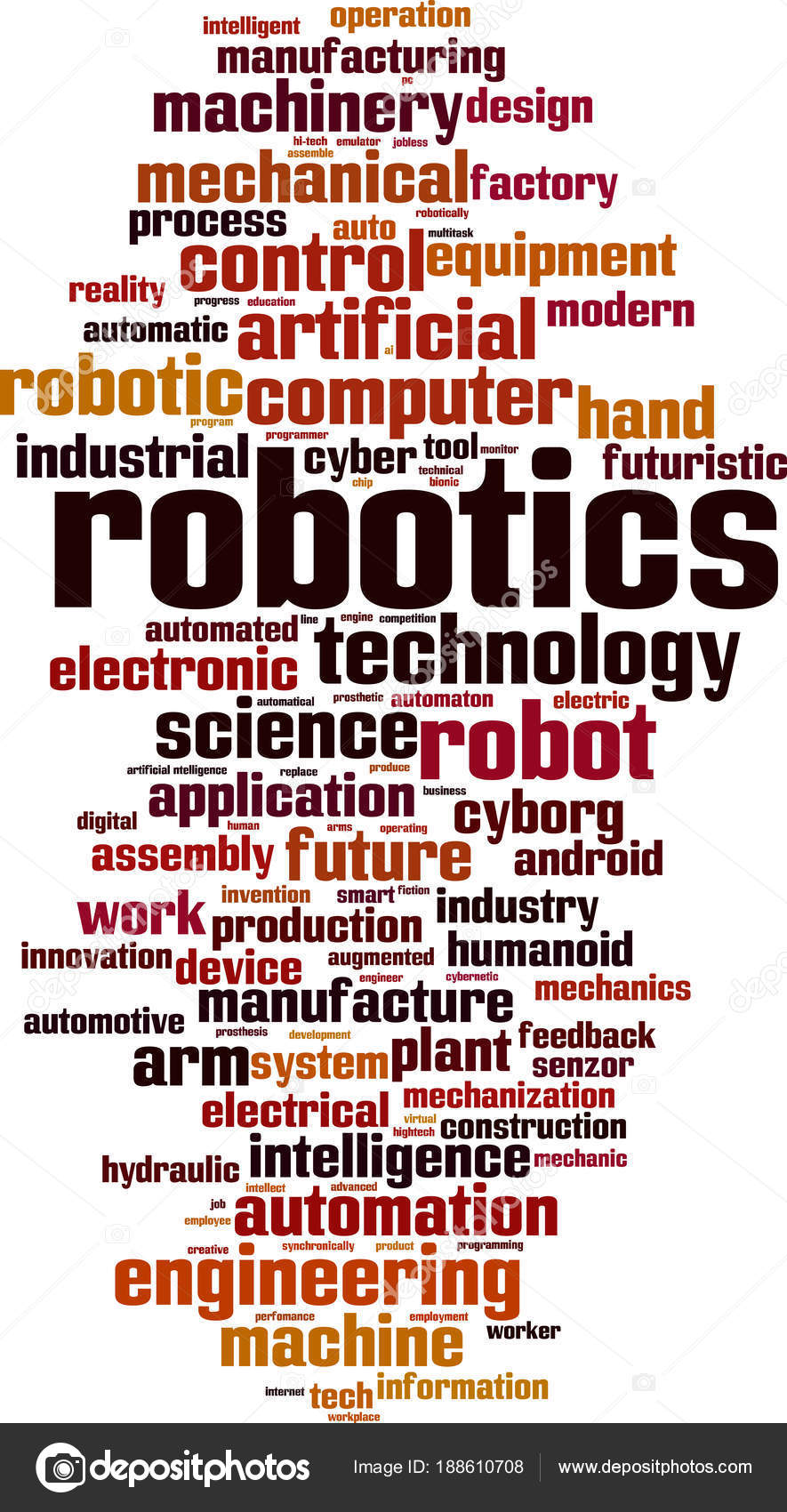 Robotics Word Cloud Concept Vector Illustration Stock Vector