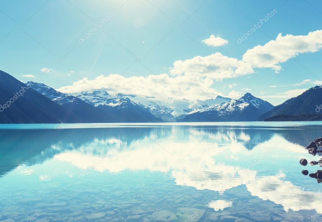 Turquoise Garibaldi lake