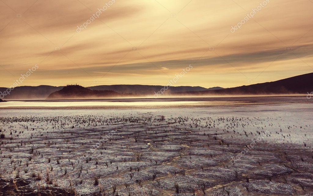 Drought land close up