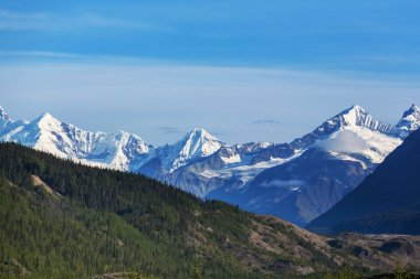 Picturesque Mountains in Alaska