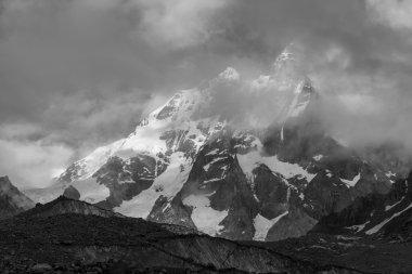 Famous Ushba peak