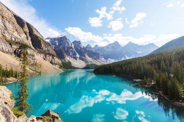 Moraine lake in Canada