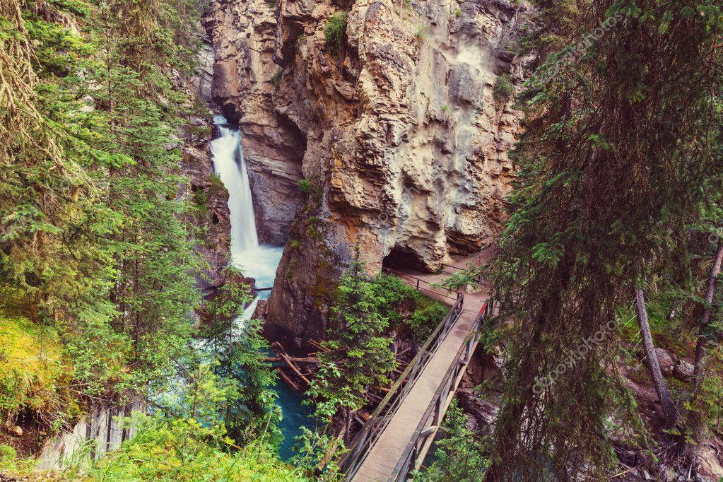Johnston Canyon y Ink Pots Rocosas Canadienses Parque