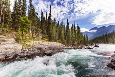 Athabasca river in Canada