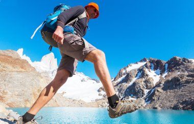 Hike in the Patagonian mountains
