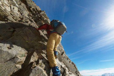 courage Climber in mountains