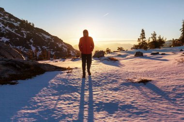 Man hiker travel