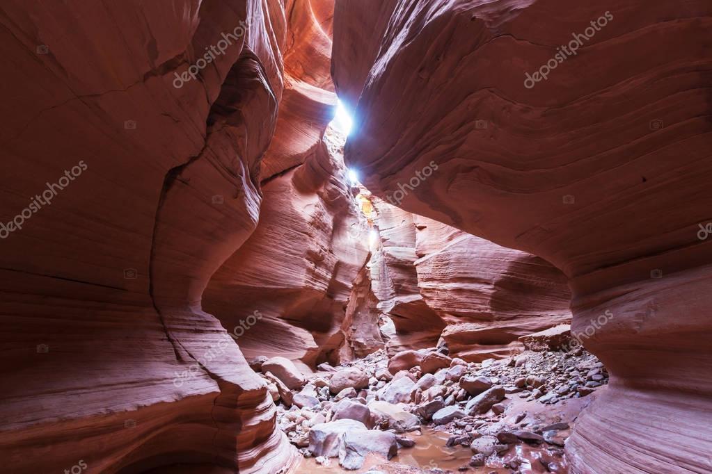 Slot canyon in Grand Staircase Escalante National park