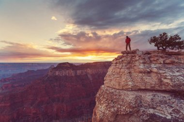 Man in Hike in Grand Canyon