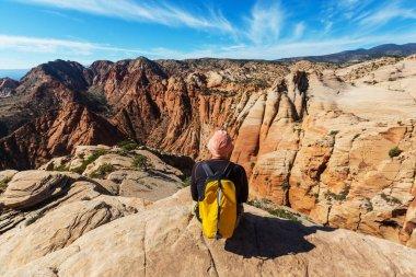 man Hike in the Utah mountains