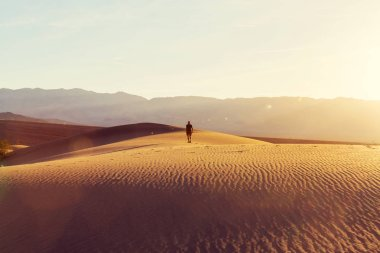 man Hiker in desert