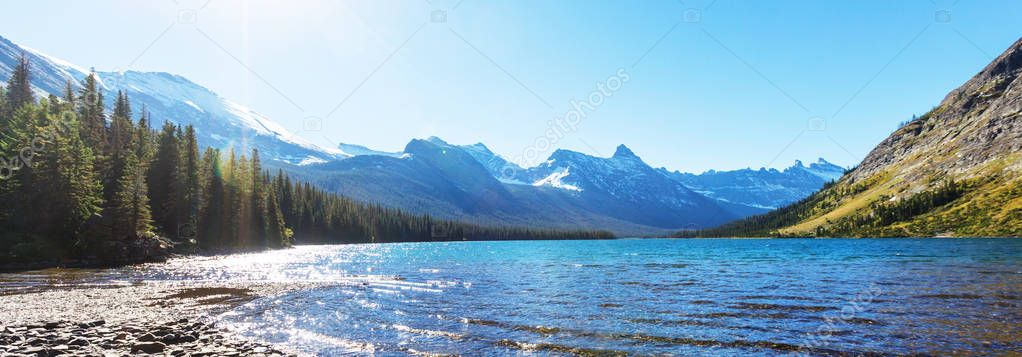 Picturesque rocky peaks
