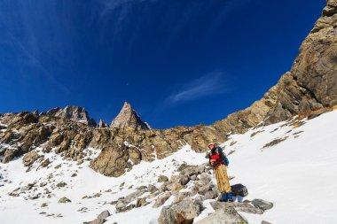Hiker in Sierra Nevada