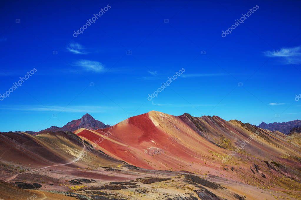 scenic view in Vinicunca, Cusco Region, Peru