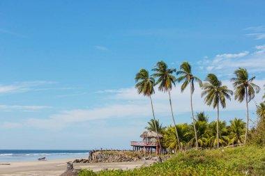 View of a small beach in El Salvador, Pacific Coast