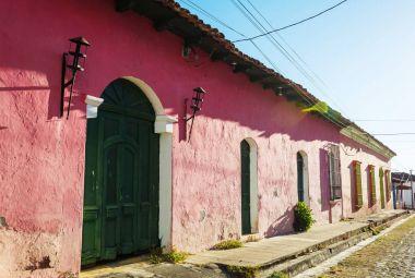 Beautiful colonial architecture in El Salvador, Central America