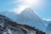 Malebný pohled na hory, Kanchenjunga regionu, Himálaj, Nepál