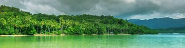 Serenity on the tropical beach stock vector