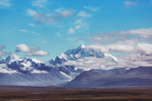 Denali National Park landscapes. Mount Denali is the highest mountain peak in North America, located in Alaska.