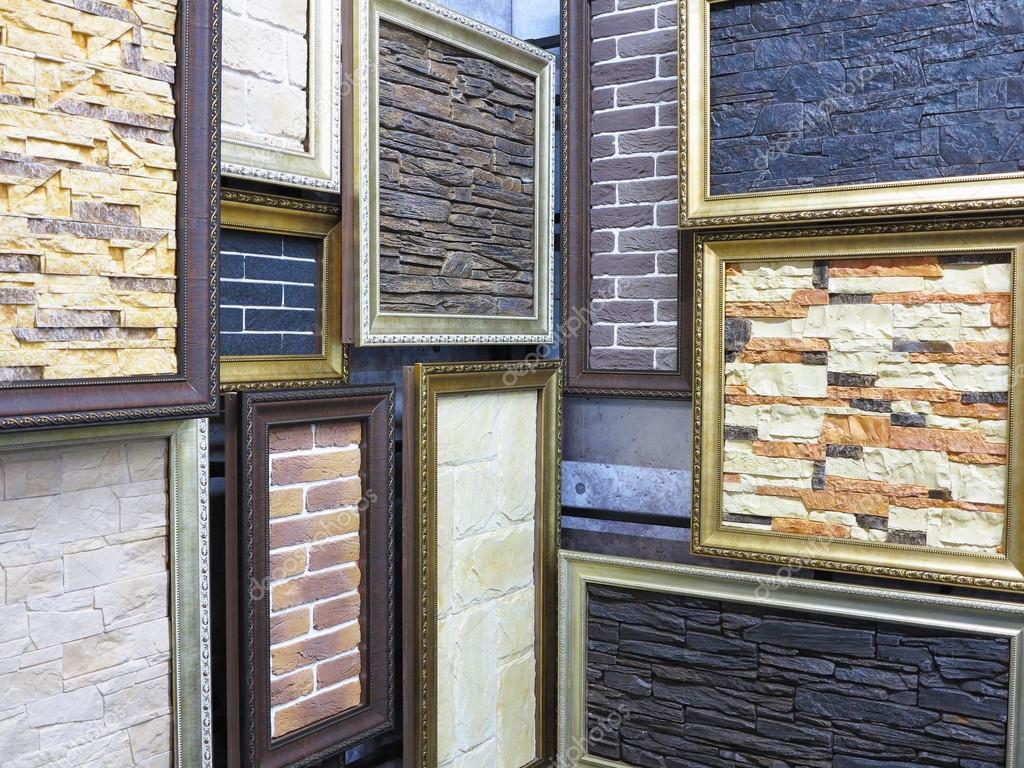 Abstrakte Bilderrahmen mit Stein Ziegel Texturen — Stockfoto ...