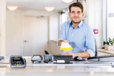 Friendly Ticket sales clerk