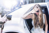 Photo Actress stepping out of a limousine