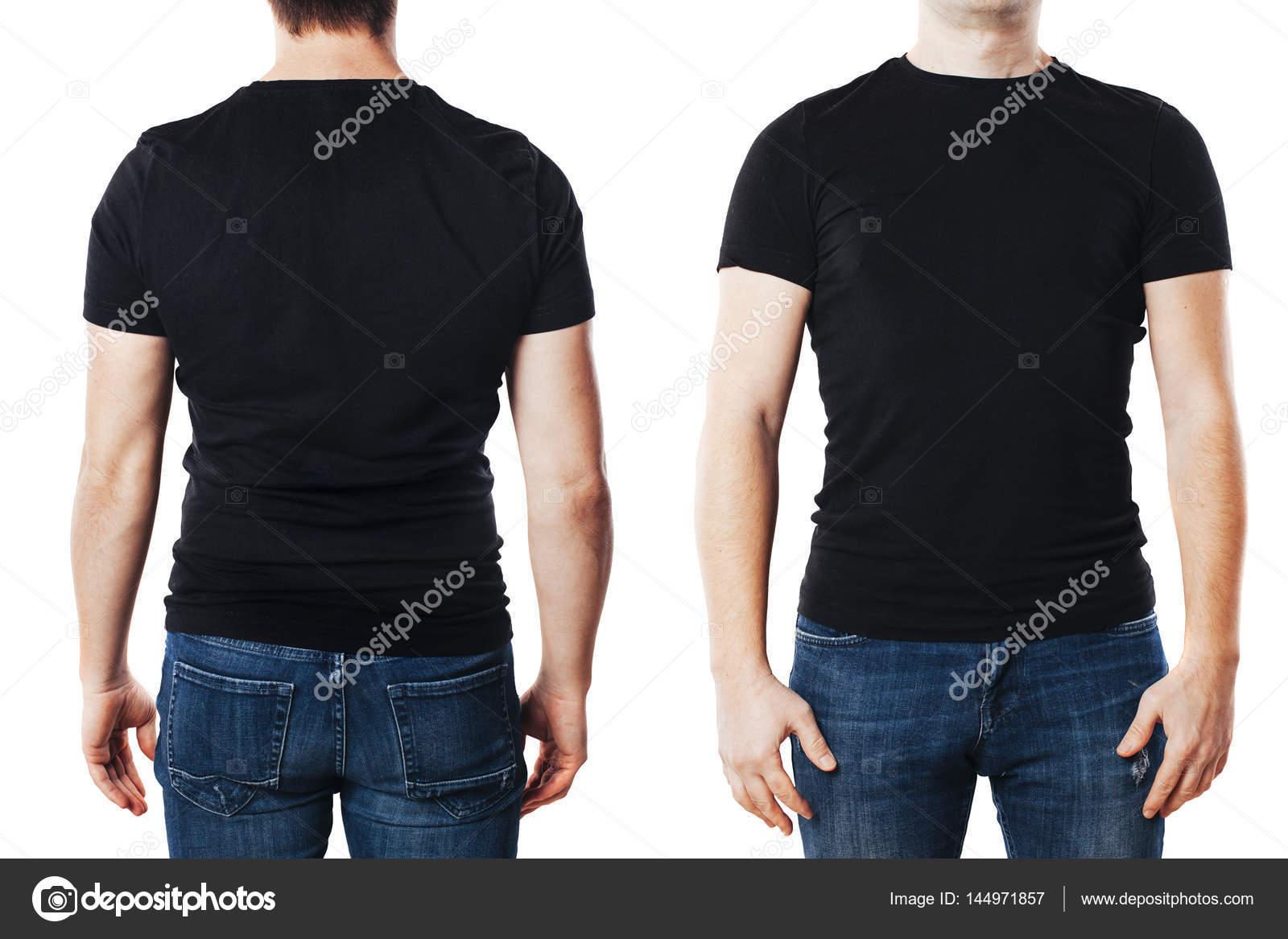 Junger Mann mit leeren T-shirt-Vorlage — Stockfoto © digitalgenetics ...