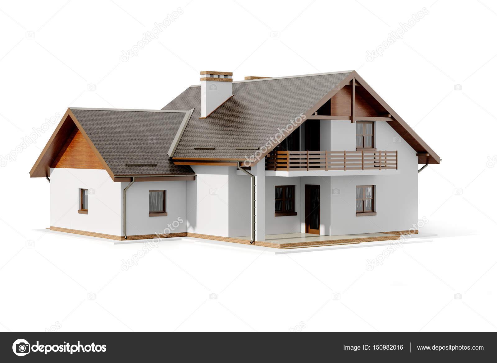 3D Haus Plan Auf Weißem Hintergrund U2014 Foto Von Digitalgenetics