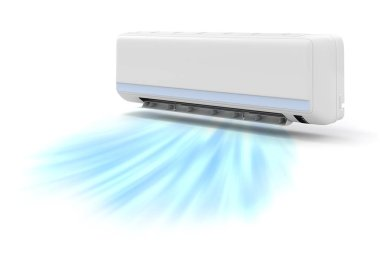 3d air conditioner on white background