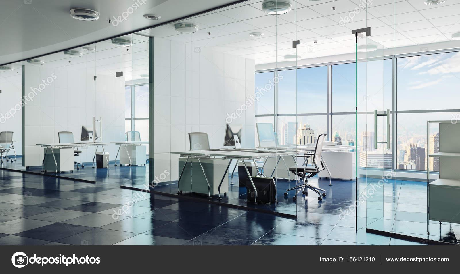 3d Moderne Buro Innen Render Stockfoto C Digitalgenetics 156421210
