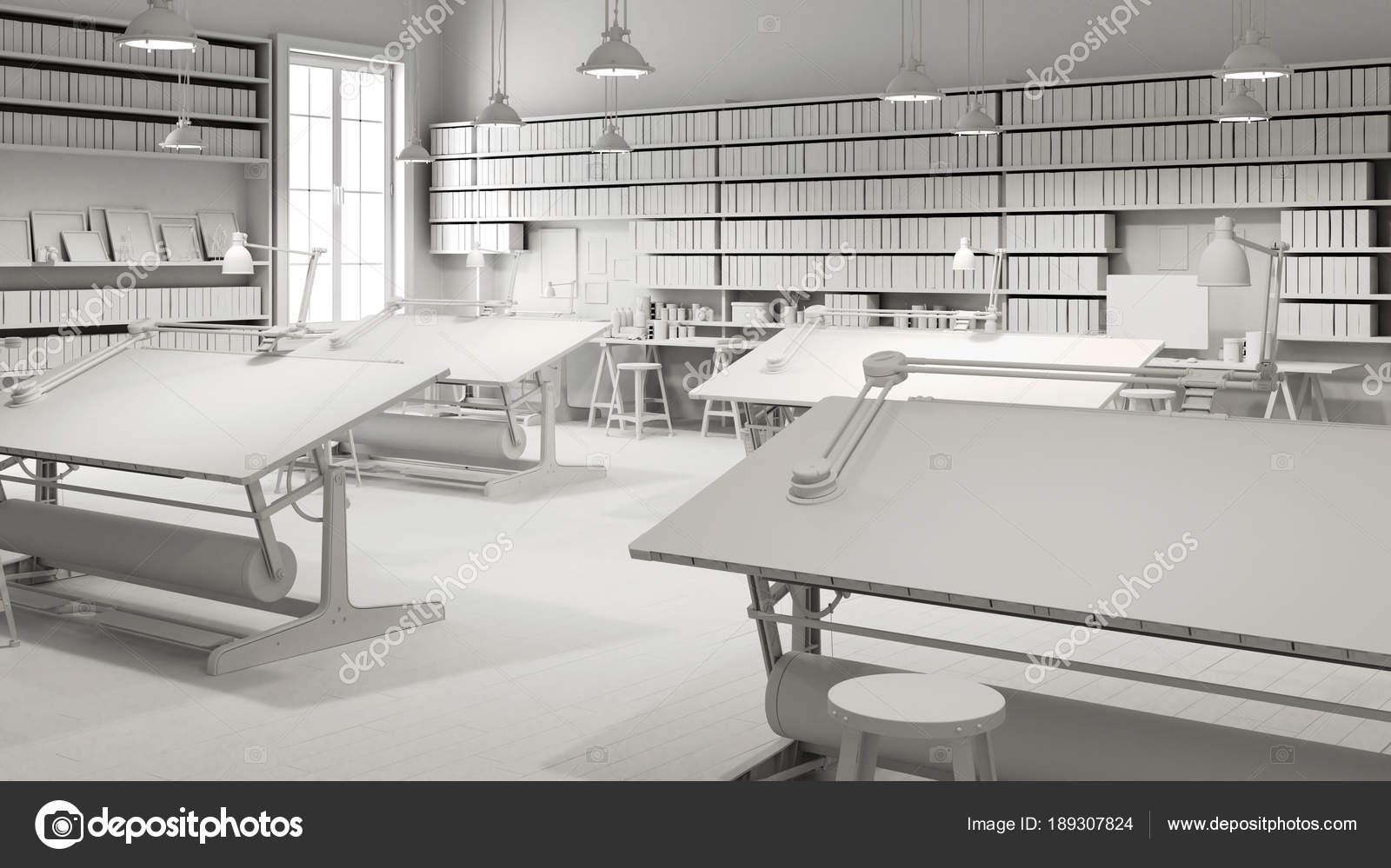 Interior Projeto Escrit Rio Arquitetura Fotografias De Stock