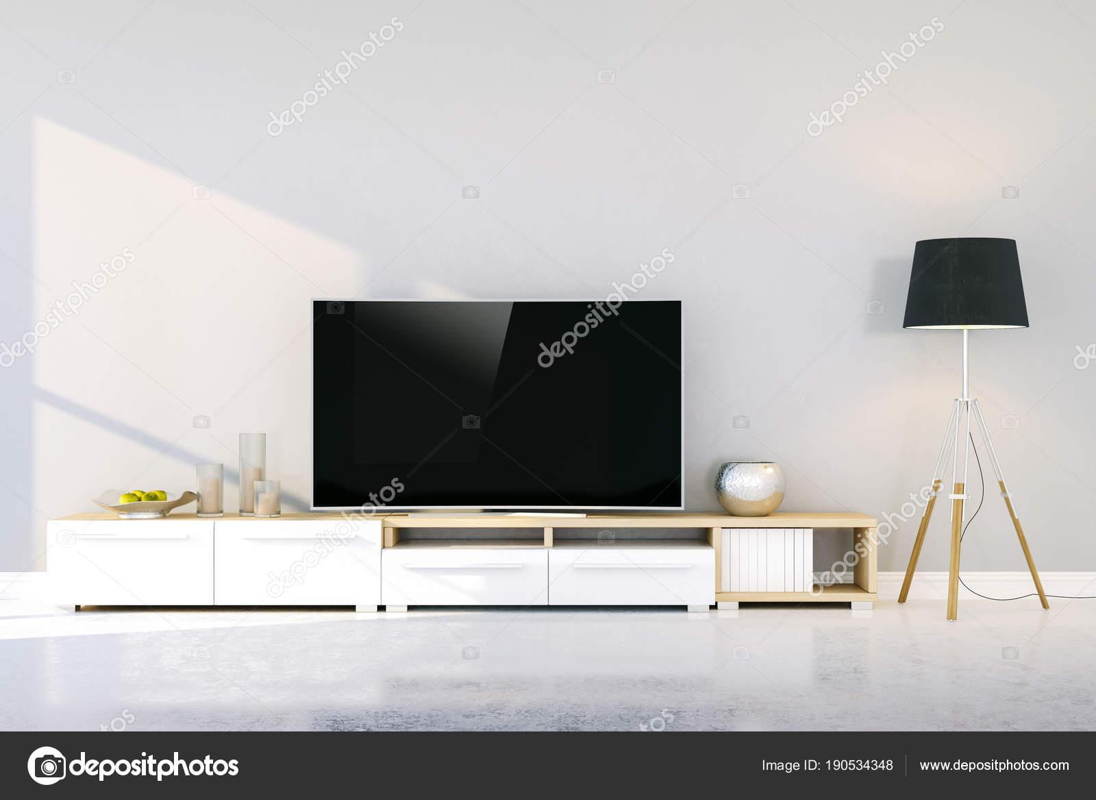Rendern Von Innen Modernes Wohnen Setup Stockfoto