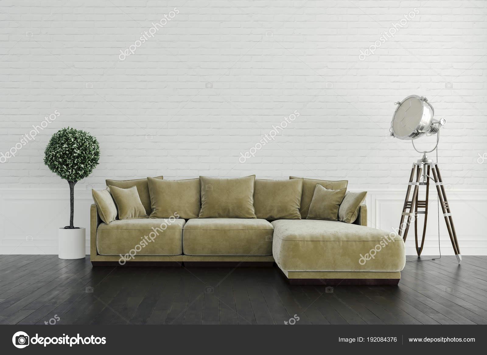 Geräumig Schöne Einrichtung Beste Wahl 3d Render Schöne Innere Mit Sofa Und