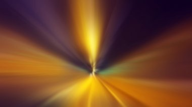 Time travel concept, fast speed motion through the tunnel