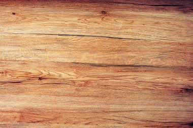 Rustic wooden board texture, table top view
