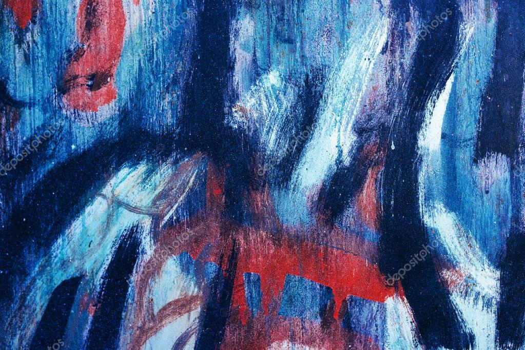 Abstract paintbrush strokes