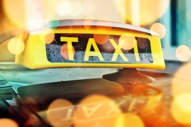 Taxi car roof sign