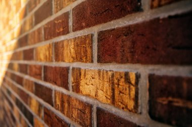 Beautiful rustic brickwork in perspective