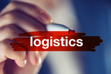 Business logistics concept