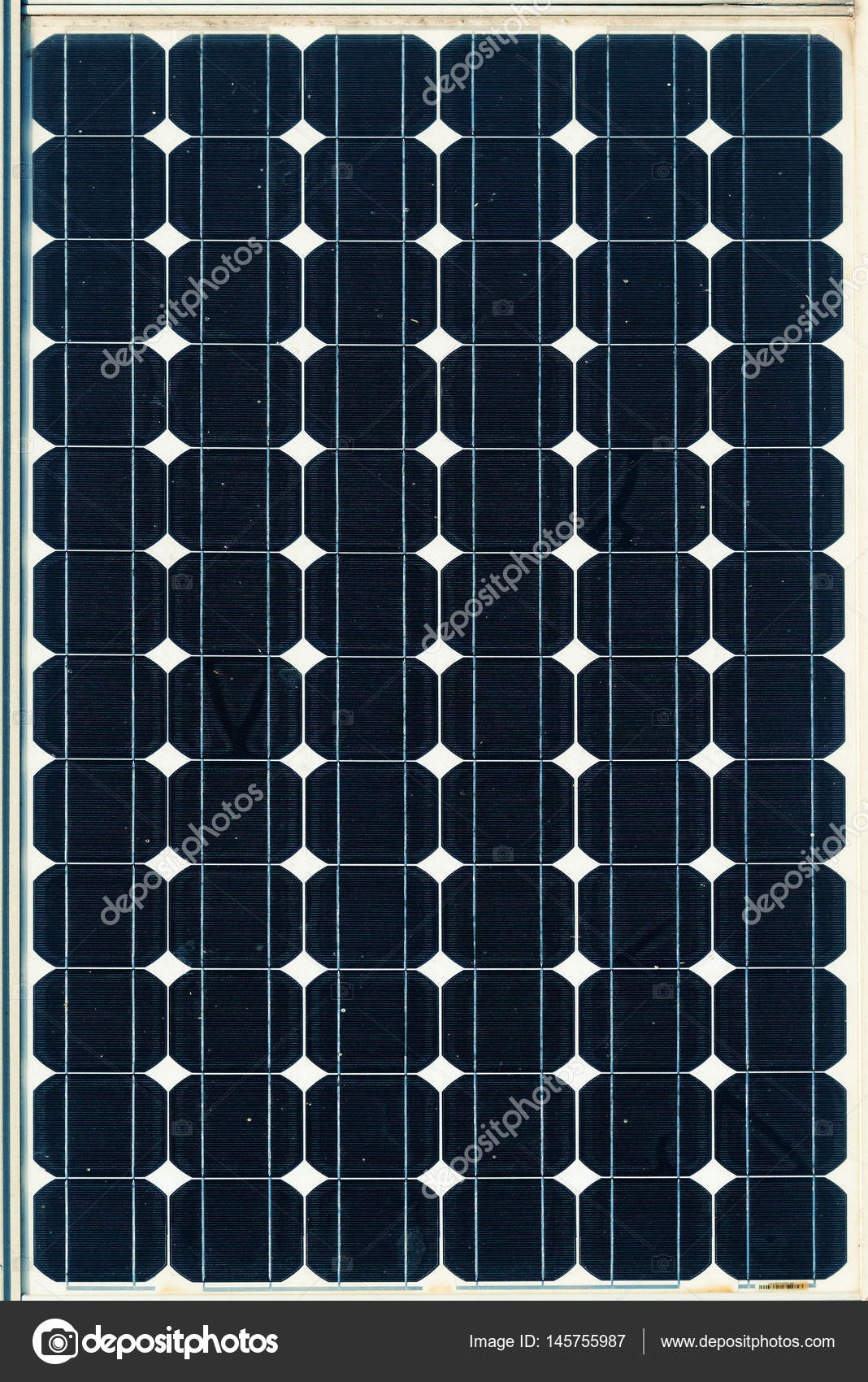 Top View Of Single Solar Panel Surface Stock Photo