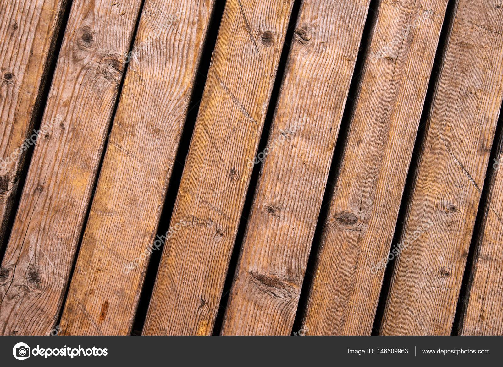 Weathered Outdoor Patio Wooden Flooring Texture Stock Photo